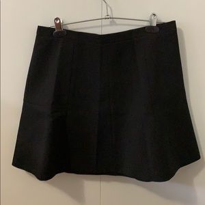 JCrew black A line skirt